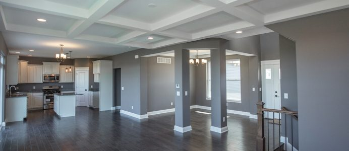 Bon Dining Room With Coffered Ceiling. U201c