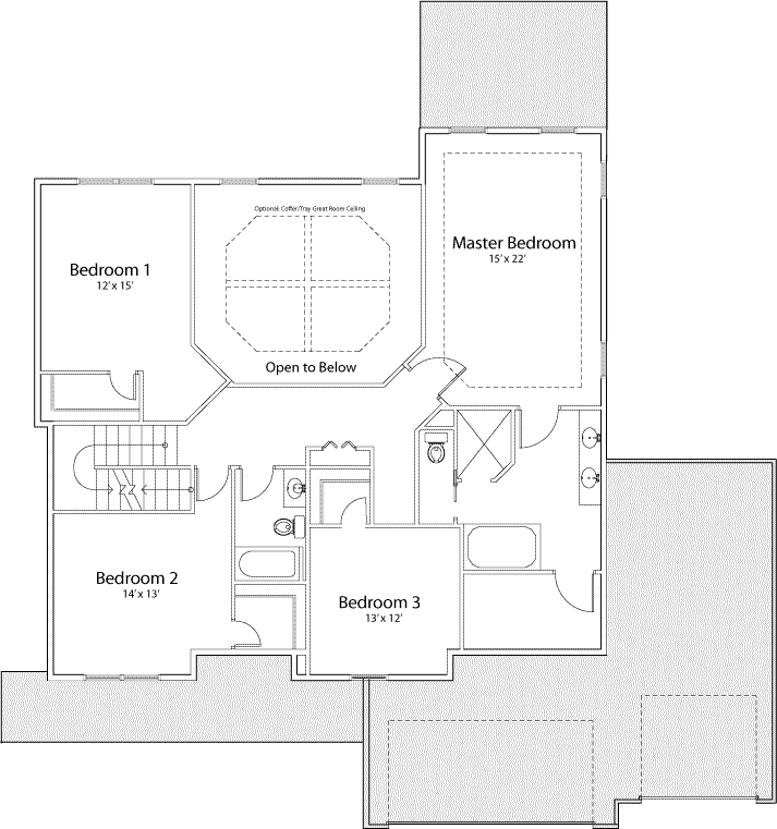 Williamson floor plan for second floor