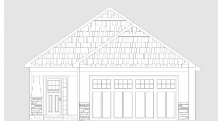 Ranch home front elevation