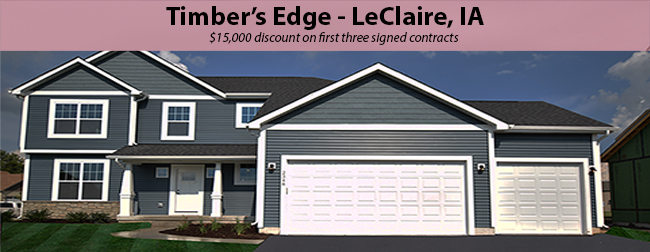 Announcing: Timber's Edge – LeClaire, IA
