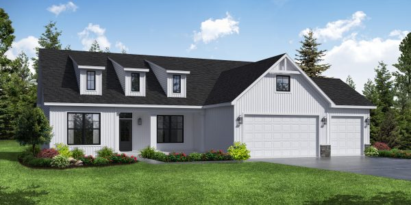 Bettendorf Model Farmhouse Front Elevation