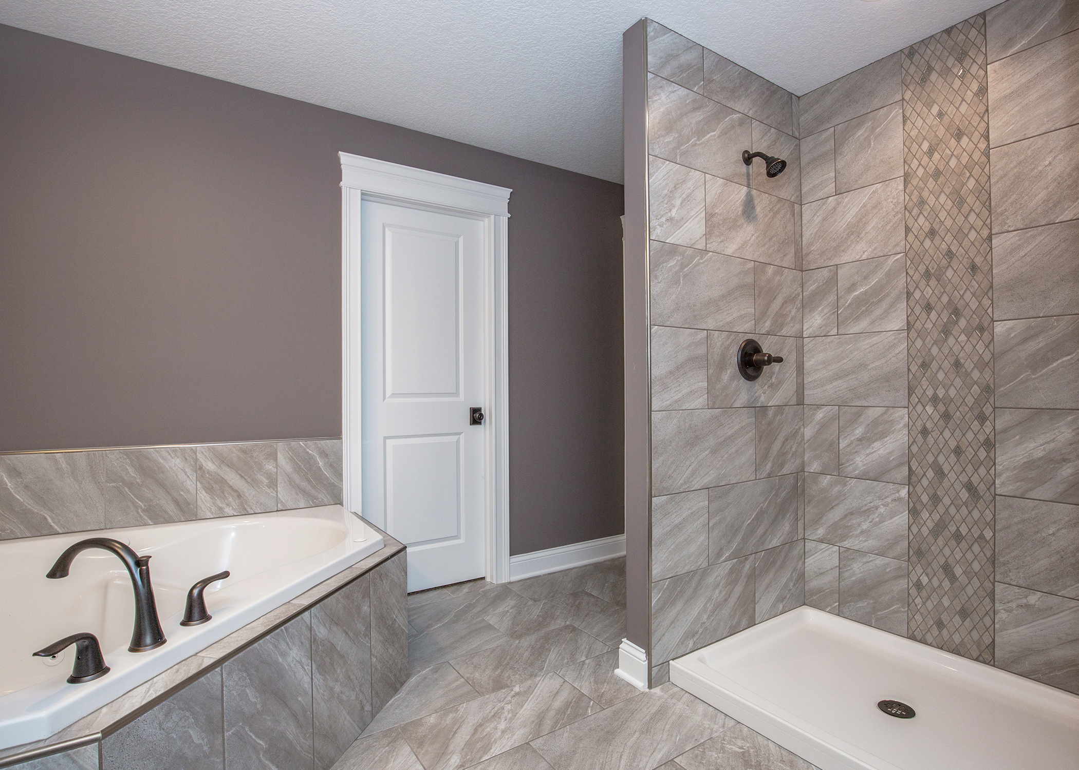 Bathroom with soaker tub and shower