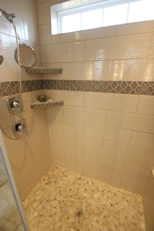 master bathroom shower with custom tile work